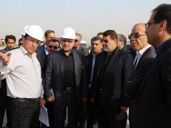بازدید استاندار هرمزگان به همراه مدیرعامل سازمان بنادر از بندر شهید رجایی - تیرماه ۹۵